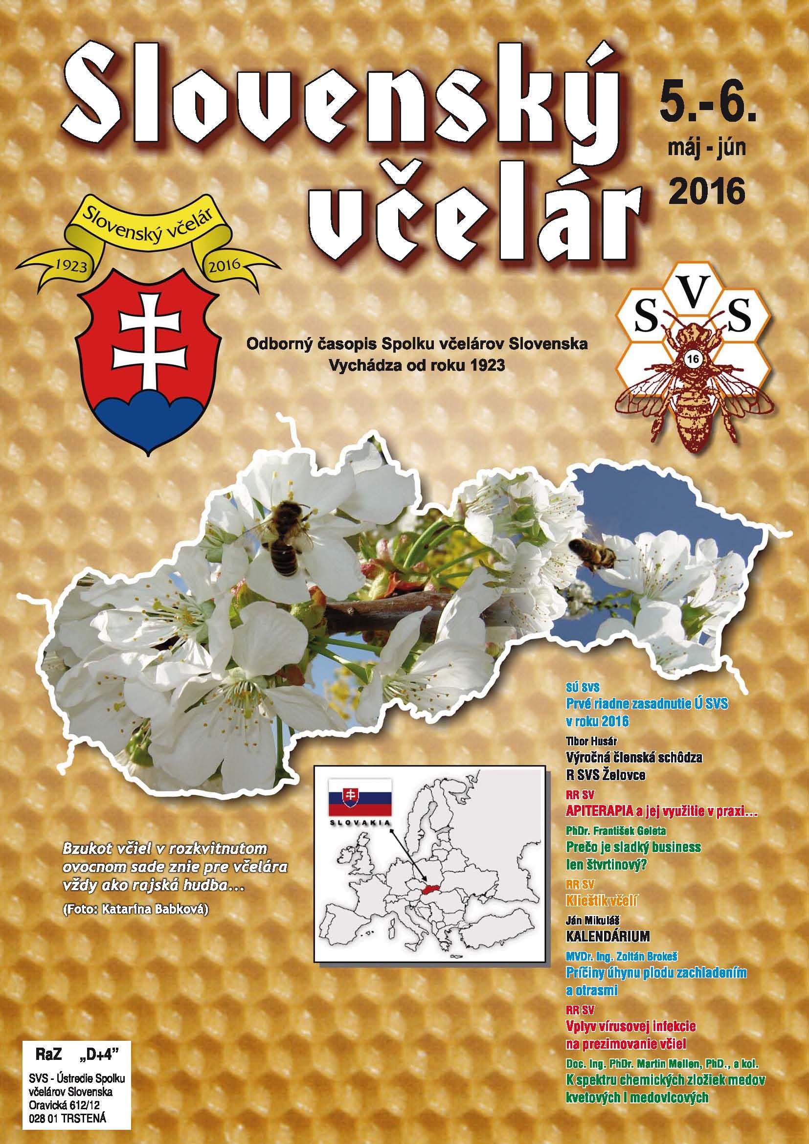 Slovenský včelár 5-6/2016